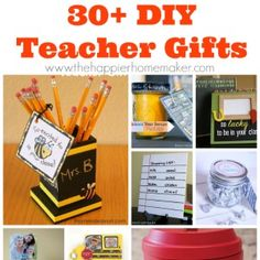 30+ DIY Teacher Gifts - The Happier Homemaker