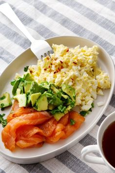 Egg Butter with Smoked Salmon and Avocado