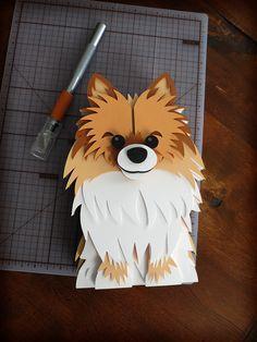 Pet Portrait Paper Sculptures on Behance