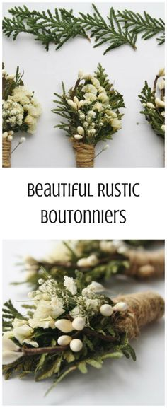 These are simple and beautiful! Great for a #farmhouse wedding! #wedding #ad #countrywedding