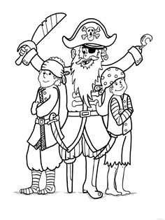 Pirates With His Children Pirate Coloring Pages, Coloring Pages For Kids, Snoopy, Printables, Children, Cards, Fictional Characters, Colouring Pages For Kids, Boys