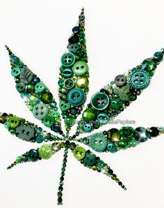 Marijuana Leaf PRINT Wall Art Gifts for Pot Smokers