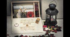 Caja de madera personalizada para bodas con memoria usb