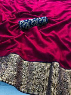Fabric- Pure sana silk designer with Weave border dsng Brocket Weave blouse 👚 💫 *Saree Length* - Mtr* Blouse: Meter material ( We provide stitched blouse at extraa cost) Quality Product Message us For any query Kanjivaram Sarees Silk, Mysore Silk Saree, Banarsi Saree, Indian Silk Sarees, Soft Silk Sarees, Lehenga, Sabyasachi Sarees, Wedding Saree Collection, Silk Saree Blouse Designs