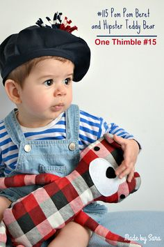 The #115 pom pom beret and Hipster Teddy - One Thimble issue 15 is Out! - Made by Sara