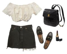 """"""""""" by femmedior ❤ liked on Polyvore featuring Levi's, Gucci, Kate Spade and Chanel"""