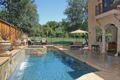 small back yard pools with spas | Granite Bay Classic Pool, Jim Chandler Pools