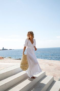 white summer dress for the beach