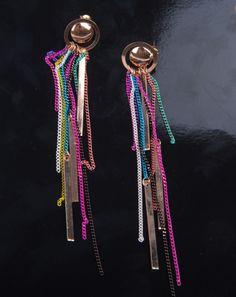 Fashion Style Colorful Tassels Drop Earrings For Women