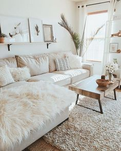 industrial farmhouse living room White X Brown Living Room, diy furniture cheap, Apartment Room, Farm House Living Room, Living Room White, Living Room Modern, Apartment Living Room, White Rooms, Brown Living Room, Living Decor, Living Room Table