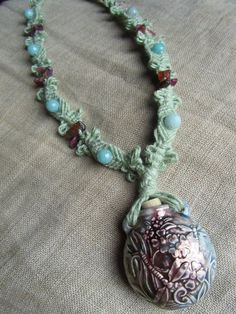 Made to Order Hemp Macrame Bottle Necklace by PerpetualSunshine111, $40.00