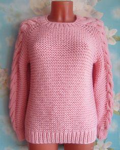 Свитер розовый Pullover, Sweaters, Fashion, Moda, La Mode, Sweater, Sweater, Fasion