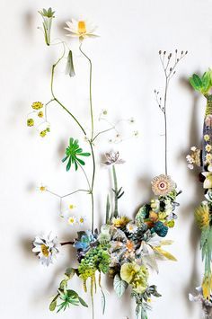 Anne ten Donkelaar,  Anne creates these breathtaking Flower Constructions, 3D collages made from a combination of delicate pressed flowers and cutout pictures of flowers