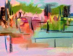 "City Block""  11"" x 14""  Original Abstract Art Pastel Painting Contemporary"