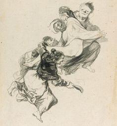 'Sueño de azotes' from Goya's Album D (c.1819-23).