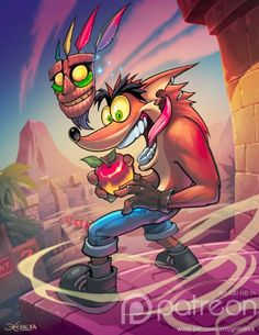 Crash bandicoot by el-grimlock on DeviantArt Crash Bandicoot, Video Game Characters, Video Game Art, Cartoon Art, Fun Games, Character Art, Nintendo, Fantasy Art, Cool Art