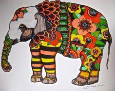 cách điệu voi