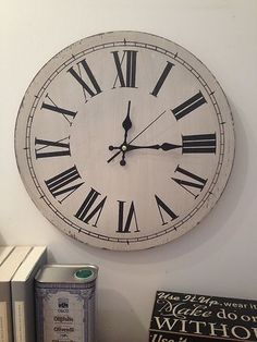 World map wooden wall clock at laura ashley new house pinterest world map wooden wall clock at laura ashley 39cm vintage style white painted wall clock lightly distressed sass and belle ebay gumiabroncs Choice Image