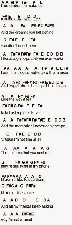 Flute Sheet Music: Amnesia