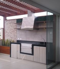 Parrilla Exterior, Kitchen Cabinets, Tumblr, Home Decor, Instagram, Stamped Concrete, Porcelain Floor, Terrace Design, Grill Station