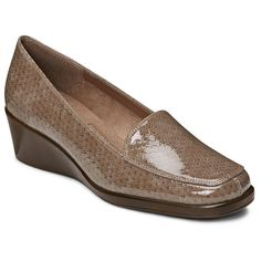 A2 by Aerosoles Tempting Women's Wedge Loafers, Lt Brown