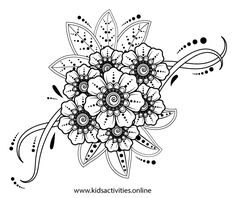 Spring Flowers Coloring Pages For Adults Printable ⋆ Kids Activities Rose Coloring Pages, Spring Coloring Pages, Mandala Coloring Pages, Coloring Books, Colouring Sheets For Adults, Free Coloring Sheets, Printable Adult Coloring Pages, Yin Yang, Hamsa