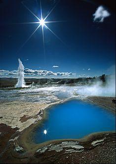 Strokkur geyser - Geysir - Iceland by FredLefebvre