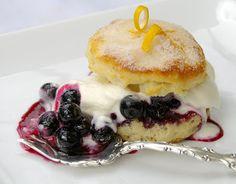 Gourmet Girl: Recipe: Lemon-Blueberry Shortcakes with Whipped Cream
