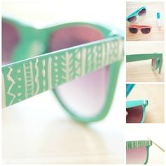 Geometric Designs | 27 Inspired Ways To Decorate Your Sunglasses
