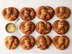 Recipe of the Day: Soft Pretzels Yeasty, salty and subtley sweet, these soft and chewy pretzels are just like the quintessential stadium snack — but you can make them at home in your own kitchen. Serve them with a big dunk of tangy mustard.