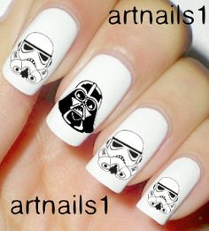 Star Wars Darth Vader Storm Troopers Disney Nails by artnails1