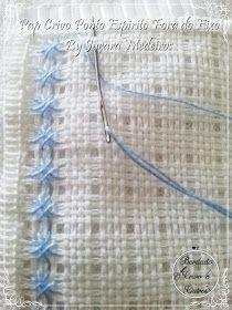 Hem Stitch, Star Stitch, Drawn Thread, Thread Work, Lace Drawing, Farm Crafts, Free To Use Images, Bracelet Crafts, Linen Tablecloth
