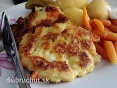 Karfiolové placky - Náš veľmi obľúbený recept, ktorý nám dala naša babka, je veľmi jednoduchý a chutny:-):-):-) Czech Recipes, Ethnic Recipes, Vegetable Recipes, Lasagna, Mashed Potatoes, Cauliflower, Macaroni And Cheese, Bakery, Vegetables