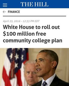The White House will launch a $100 million program to spur tuition-free community college programs across the country Vice President Biden will announce Monday.  Biden and his wife Dr. Jill Biden a community college professor will preview the Americas Promise grant program today in a speech at the Community College of Philadelphia.  The program offers $100 million in grants designed to create and expand partnerships between community colleges and other training providers employers and the…