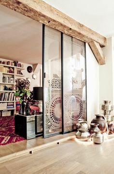 porta scorrevole henry glass mod. inside grafite trasparente ... - Legno Di Teak Porta Dingresso Di Fusione