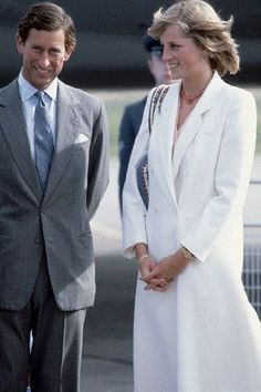 Prince Charles & Princess Diana arriving in Scotland to continue their honeymoon there.