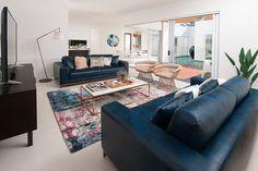 These colours are trending in interior design at the moment #blue #pink #metallic #designer #prizehome #livingroom #interiordesign #design #inspiration