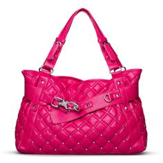 60b7cd51be46 I think everyone needs to have a hot pink pink bag in their collection.  Studs