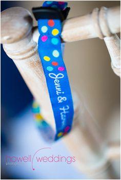 Something blue?: Gorgeous blue wedding wristband favours