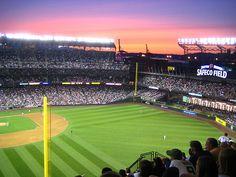 Sunset over Safeco Field