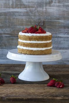 Gluten-free, Vegan Naked Cake with CocoWhip