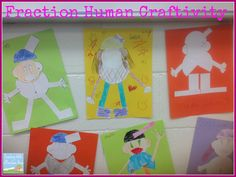 Our Latest Fraction Projects! Fraction humans project and adding and subtracting fractions freebie!