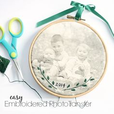 Embroidered Photo Transfer