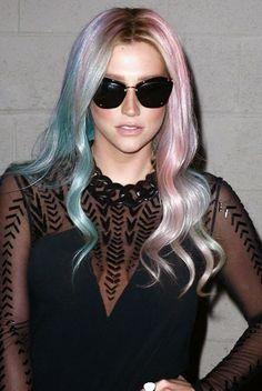 Kesha Rainbow Hair Colors