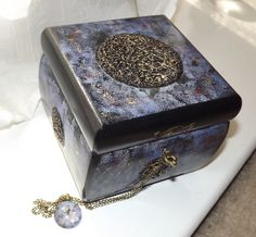 CUSTOMISE this Hand Made LOCKABLE Jewellery / Affirmation box by DAWNaffirmationBoxes on Etsy, £34.99... Includes FREE MATCHING PENDANT