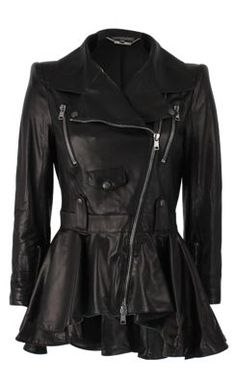 By one of our inspirations: Alexander McQueen Jacket. LOVE! #Gothic #Leather #Fashion #GhostRider