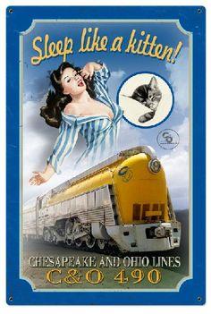 Sleep like a kitten! Chessie, symbol of Chesapeake and Ohio Railroad c. 1940