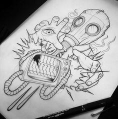 Change TV for a bull network – Graffiti World Trippy Drawings, Graffiti Drawing, Dark Art Drawings, Graffiti Art, Cool Drawings, Tattoo Design Drawings, Tattoo Sketches, Drawing Sketches, Tattoo Designs