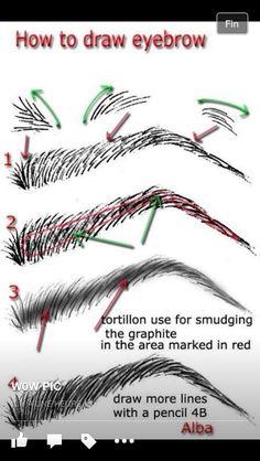 How to draw eyebrow