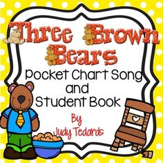 Three Brown Bears (A Pocket Chart Song and Student Book Activity) Teacher Resources, Teacher Pay Teachers, Chart Songs, Environmental Print, Multiple Disabilities, Goldilocks And The Three Bears, Name Activities, Brown Bears, Little Pigs
